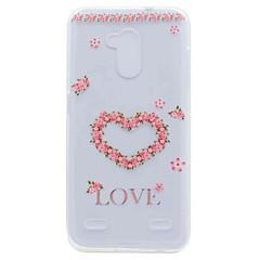 Til zte v7 v7 lite case cover gennemsigtigt mønster bagside cover hjerte soft tpu til zte blade a452