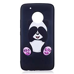 ل موتو g5 زائد g5 حالة تغطية الباندا نمط رسمت تنقش يشعر تبو حالة لينة حالة الهاتف