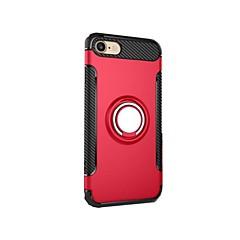 Недорогие Кейсы для iPhone 6-Кейс для Назначение Apple iPhone 7 Plus iPhone 7 Защита от удара со стендом Кольца-держатели Кейс на заднюю панель броня Твердый ПК для