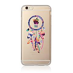Недорогие Кейсы для iPhone 4s / 4-Кейс для Назначение Apple iPhone 7 Plus iPhone 7 Прозрачный С узором Кейс на заднюю панель Ловец снов Мягкий ТПУ для iPhone 7 Plus iPhone