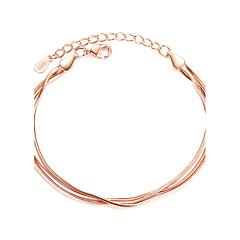 Damskie Bransoletki i łańcuszki na rękę Modny Srebro standardowe Line Shape Biżuteria NaImpreza Specjalne okazje Prezenty