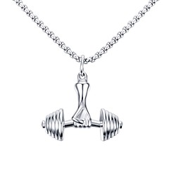 Недорогие Ожерелья-Муж. Ожерелья с подвесками Заявление ожерелья - Нержавеющая сталь Титановая сталь На заказ Геометрия Уникальный дизайн С логотипом В