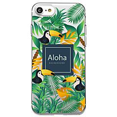 Назначение iPhone X iPhone 8 Чехлы панели Прозрачный С узором Задняя крышка Кейс для Слова / выражения Животное дерево Мягкий Термопластик