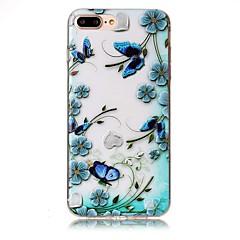 Для iphone 7 плюс 7 тисненый узор бабочки цветка высокого качества tpu мягкий случай телефона 6 плюс 6s 6 se 5