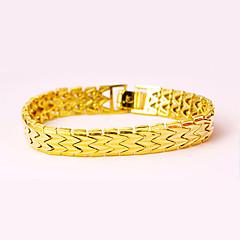 Χαμηλού Κόστους Βραχιόλια-Ανδρικά Γυναικεία Βραχιόλια με Αλυσίδα & Κούμπωμα Πολυτέλεια Βίντατζ Μοντέρνα Γκόθικ Πανκ Χαλκός Geometric Shape Κοσμήματα Πάρτι Ειδική