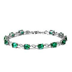 preiswerte Armbänder-Damen Synthetischer Smaragd Ketten- & Glieder-Armbänder - Smaragdfarben Natur, Modisch Armbänder Grün Für Hochzeit Party Geburtstag