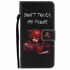 For Motorola Moto G5 Plus G5 Case Cover Card Holder Wallet with Stand Flip Pattern Full Body Case Bear Hard PU Leather
