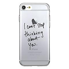 Til iPhone X iPhone 8 Etuier Mønster Bagcover Etui Ord / sætning Blødt TPU for Apple iPhone X iPhone 8 Plus iPhone 8 iPhone 7 Plus iPhone