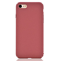 For iPhone 7 7 Plus Plush Surface Solid Color Dull Polish PC Material Phone Case 6 Plus 6 SE 5