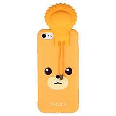 Случай для яблока iphone 7 7plus 3d мультфильм милый рисунок льва мягкий материал задней крышки tpu задний для iphone 6s плюс 6 плюс 6s 6