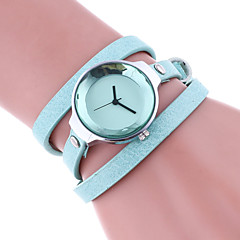 Women's Bracelet Watch Quartz Colorful Leather Band Casual Black White Red Brown Beige Navy Rose