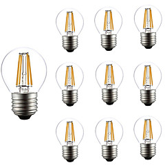 preiswerte LED-Birnen-10 Stück 4W 360lm E26 / E27 LED Glühlampen G45 4 LED-Perlen COB Abblendbar Dekorativ Warmes Weiß 220-240V