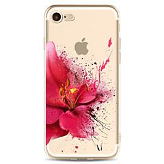 olcso iPhone 6 tokok-Case Kompatibilitás Apple iPhone X iPhone 8 Átlátszó Minta Fekete tok Virág Puha TPU mert iPhone X iPhone 8 Plus iPhone 8 iPhone 7 Plus