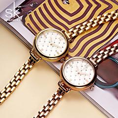 preiswerte Damenuhren-SK Damen Armband-Uhr Quartz 30 m Wasserdicht Kreativ Schockresistent Metall Band Analog Charme Luxus Retro Weiß / Gold / Rotgold - Gold Silber Rotgold