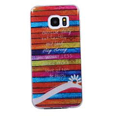 Samsung Galaxy s8 s8 plus tapauksessa poukamassa raitakuvio flash-jauhe IMD prosessi TPU-materiaali puhelimen tapauksessa s7 s6 reuna