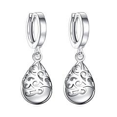 preiswerte Ohrringe-Damen Opal Tropfen-Ohrringe - Sterling Silber, Künstliche Perle Einzigartiges Design, Böhmische, Boho Weiß / Fuchsia Für Hochzeit / Party / Alltag