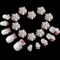 10 db gyémánt hópehely szuper csillogó köröm díszítés