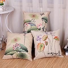 tanie Poduszki-3 szt Cotton / Linen Poszewka na poduszkę Pokrywa Pillow
