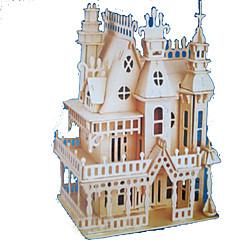 voordelige -3D-puzzels Legpuzzel Hout Model Modelbouwsets Rechthoekig Kasteel Beroemd gebouw Architectuur 3D Hout Natuurlijk Hout Alle leeftijden