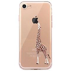 Недорогие Кейсы для iPhone 5-Кейс для Назначение Apple iPhone X iPhone 8 Прозрачный С узором Кейс на заднюю панель Композиция с логотипом Apple Животное Мягкий ТПУ для