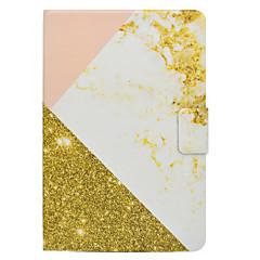 Недорогие Чехлы и кейсы для Galaxy Tab 4 10.1-Кейс для Назначение SSamsung Galaxy Вкладка 9,7 Вкладка 8,0 Бумажник для карт со стендом Флип Магнитный С узором Чехол Мрамор Твердый