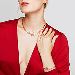Γυναικεία Σετ Κοσμημάτων Σκουλαρίκι Βραχιόλι Δαχτυλίδι Βασικό Μοναδικό Μοντέρνα Ευρωπαϊκό μινιμαλιστικό στυλ κοστούμι κοστουμιών Στρας