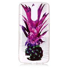 Taske til lg k10 (2017) k8 (2017) tilfælde cover ananas mønster høj gennemtrængelighed tpu materiale imd teknologi flash pulver telefon