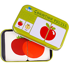 abordables Kid tablet-Tarjetas Educativas Puzzle Juguete Educativo Cuadrado Fruta Hierro Niños Regalo