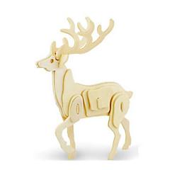 رخيصةأون -قطع تركيب3D تركيب النماذج الخشبية ديناصور طيارة أيل حيوان 3D اصنع بنفسك خشبي خشب كلاسيكي للجنسين هدية