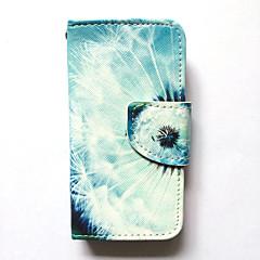 Чехол для Apple iphone 4s / 4 чехол чехол карта держатель кошелек с подставкой флип-паттерн полный корпус корпус одуванчик твердая кожа pu
