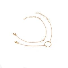 お買い得  ブレスレット-女性用 ラインストーン チェーン&リンクブレスレット  -  ファッション 幾何学形 ゴールド シルバー ブレスレット 用途 日常着 アウトドアウェア お出かけ
