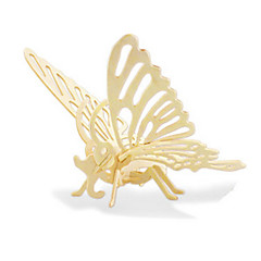 رخيصةأون -قطع تركيب3D تركيب النماذج الخشبية ديناصور طيارة حيوان فراشة 3D اصنع بنفسك خشبي خشب كلاسيكي 6 سنوات فما فوق
