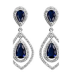 preiswerte Ohrringe-Damen Kubikzirkonia Lang Tropfen-Ohrringe - Simple Style Dunkelblau / Gelb / Deep Green Für Hochzeit / Geschenk / Alltag