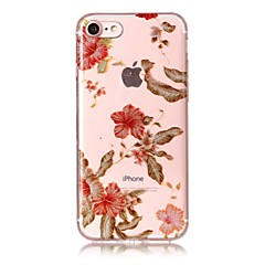 Недорогие Кейсы для iPhone 5-Кейс для Назначение IPhone 7 / iPhone 7 Plus / iPhone 6s Plus IMD / С узором Кейс на заднюю панель Сияние и блеск / Цветы Мягкий ТПУ для iPhone SE / 5s