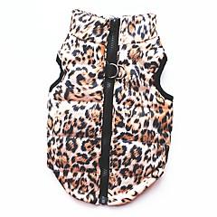 Kot Pies Płaszcze T-shirt Bluzy Yelek Ubrania dla psów Imprezowa Codzienne Zatrzymujący ciepło Sportowe Lampart Leopard