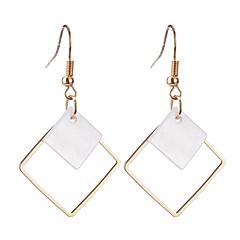 preiswerte Ohrringe-Damen Tropfen-Ohrringe - versilbert, vergoldet Personalisiert, Geometrisch, Anhänger Stil Gold / Silber Für Weihnachten / Weihnachts Geschenke / Hochzeit