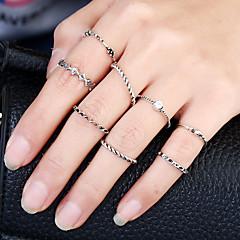 Χαμηλού Κόστους Δαχτυλίδια-Γυναικεία Βέρες Δαχτυλίδι Δέσε Ring Κυκλικό Κύκλος Rock Βρετανικό Μεταλλικό Κράμα Στρας Κράμα Circle Shape Κοσμήματα Πάρτι Γενέθλια