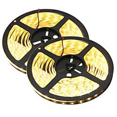 HKV® 1PCS 10M(2x5M) 80W 300LED 5630SMD Waterproof WhiteLight Normal Brightness Flexible LED Light Bar Strip (DC 12V)