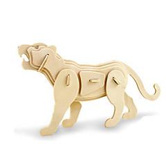 رخيصةأون -قطع تركيب3D تركيب النماذج الخشبية ديناصور طيارة Tiger اصنع بنفسك خشبي خشب كلاسيكي للأطفال للجنسين هدية