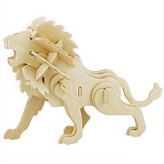 Sets zum Selbermachen 3D - Puzzle Holzpuzzle Spielzeuge Löwe Tier 3D Heimwerken Unisex Stücke