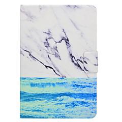 Недорогие Чехлы и кейсы для Galaxy Tab 4 10.1-Кейс для Назначение SSamsung Galaxy Вкладка 9,7 Вкладка 8,0 Бумажник для карт со стендом Флип Магнитный С узором Чехол Пейзаж Мрамор