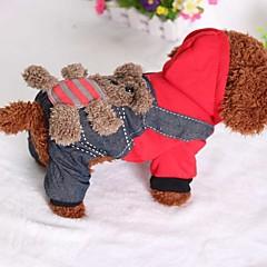 お買い得  犬用ウェア&アクセサリー-ネコ 犬 ジャンプスーツ 犬用ウェア ジーンズ コットン ダウン コスチューム ペット用 カジュアル/普段着
