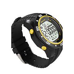 Women's Men's Smart Watch Fashion Watch Digital Water Resistant / Water Proof Rubber Band Black White