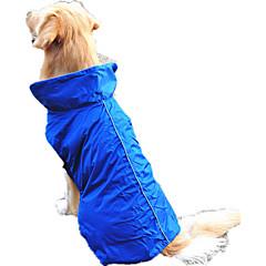お買い得  犬用ウェア&アクセサリー-犬 ベスト 犬用ウェア ソリッド フクシャ / レッド / ブルー 立ち毛メリヤス生地 / ナイロン コスチューム ペット用 防水
