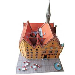 رخيصةأون -مجموعة اصنع بنفسك قطع تركيب3D نموذج الورق ألعاب بناء مشهور معمارية 3D اصنع بنفسك غير محدد للجنسين قطع