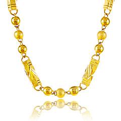 Недорогие Ожерелья-Ожерелья-цепочки - Позолота Шарообразные Уникальный дизайн, Винтаж Золотой Ожерелье Бижутерия Назначение Для вечеринок, Особые случаи, Поздравления