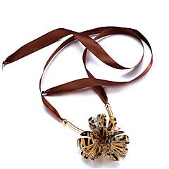 preiswerte Halsketten-Damen Kristall Lang / Übergang Halsketten - Krystall Freunde, Herz, Blume Natur, Punk, Gothic Schwarz, Braun Modische Halsketten Für Büro / Geschäftlich, Normal, Party