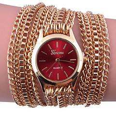 Women's Bracelet Watch Digital Metal Band Black White Silver Red Gold Pink