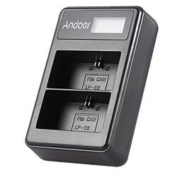 Andoer® lp-e6 akumulatorowy wyświetlacz led Li-ion ładowarka zestaw 2-krotny zestaw kabla usb do canon eos 6d 7d 70d 60d 5d znak iii mark