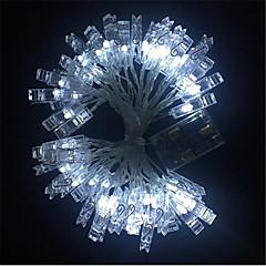abordables Tiras de Luces LED-3M Cuerdas de Luces 20 LED Blanco Cálido / Blanco / Azul <5 V / IP65